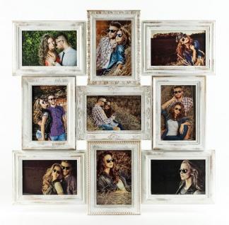Bilderrahmen weiß gold gewischt 9 Fotos Barock antik Galerie Collage