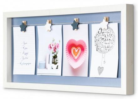Bilderrahmen 4 Fotos Klammern Sterne Holz Weiß Fotorahmen Fotogalerie Collage