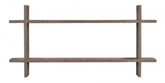 Regal BxH 98x48cm Holz Steckregal Rost-Optik Wandregal Bücherregal Vintage Deko