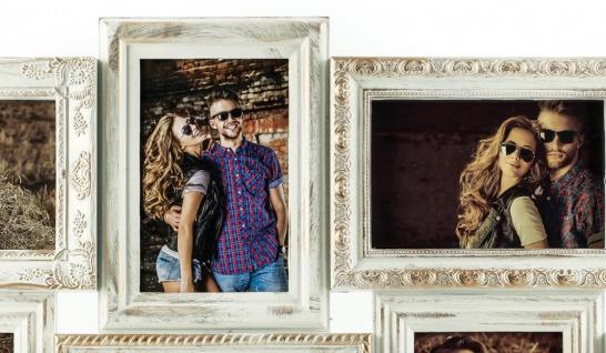 Bilderrahmen weiß gold gewischt 8 Fotos Barock antik Galerie Collage - Vorschau 2