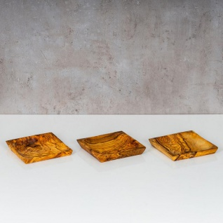 Holzschale Olivenholz ca. 12x12cm Schale Holz Dekoschale Natur Unikat Tischdeko - Vorschau 4