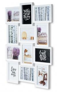 levandeo Bilderrahmen in Weiß für 12 Fotos 13x18 Fotogalerie Collage Fotorahmen