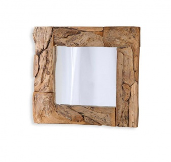 Spiegel Treibholz 50x50cm Holz Flurspiegel Unikat Handarbeit