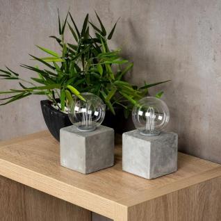2er Set Tischleuchte 8x16cm LED Glühbirne Beton Tischlampe Deko Retro Tischdeko - Vorschau 4