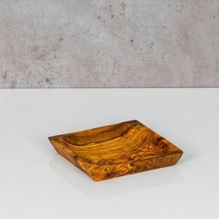 Holzschale Olivenholz ca. 12x12cm Schale Holz Dekoschale Natur Unikat Tischdeko - Vorschau 5