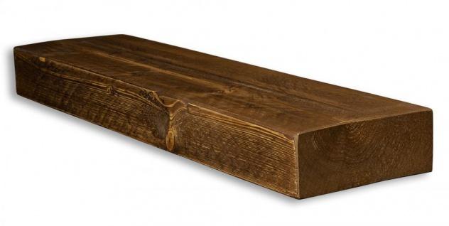 levandeo Wandregal Holz Massiv 80x20cm Nussbaum Farbig Wandboard Regal Vintage - Vorschau 2