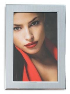 levandeo Bilderrahmen 13x18cm Alu Aluminium silber Fotorahmen Portrait Glas