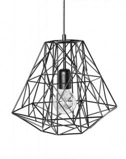 Lampe Hängelampe H30cm Schwarz Deckenleuchte Industrial Design Pendelleuchte