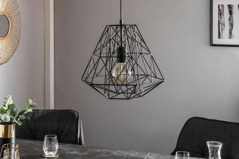 Lampe Hängelampe H30cm Schwarz Deckenleuchte Industrial Design Pendelleuchte - Vorschau 3