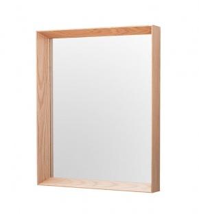 Wandspiegel Spiegel Massivholz Eiche 44 x 54cm Holz Eckig Badspiegel Unikat Deko