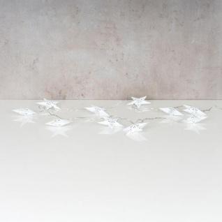levandeo Lichterkette LED Weiß 10 Sterne Weihnachten Licht Beleuchtung Deko Xmas - Vorschau 4