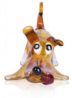 Designer Glas Skulptur 16x20x30cm Hund Glasfigur Deko Unikat - Vorschau 2