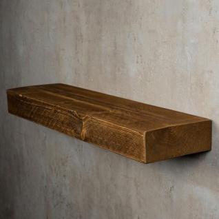 levandeo Wandregal Holz Massiv 80x20cm Nussbaum Farbig Wandboard Regal Vintage - Vorschau 4