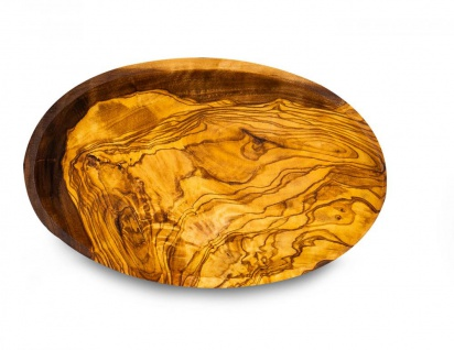Holzschale Olivenholz ca. 20x12cm Schale Holz Tischdeko Dekoschale Natur Unikat - Vorschau 2