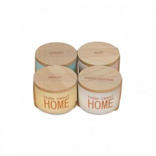 Duftkerzen 4 Stück Rose Cotton Melon Jasmin Holzdeckel Home Kerze Glas - Vorschau 3