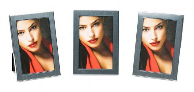levandeo 3er Set Bilderrahmen 10x15cm Alu Aluminium silber Fotorahmen Glas