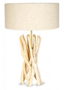 Lampe Tischlampe 62cm Holz Holzlampe Unikat Braun Treibholz Leuchte Deko