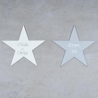 Holzschild 2er Set Sterne Grau Weiß 30x30cm Sprüche Holzbild Wandobjekt Deko - Vorschau 3
