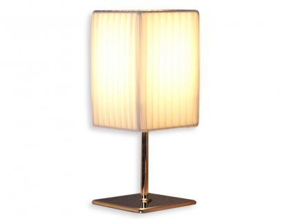 Nacht-Tischlampe Lampe in weiß aus Latex - Leuchte Licht Chromgestell