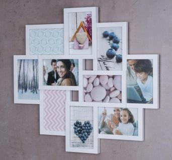 Bilderrahmen weiß 10 Fotos Fotogalerie Fotocollage 3D Optik Collage - Vorschau 5