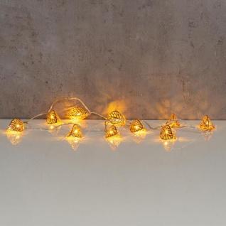 levandeo Lichterkette LED Kupfer Blatt 10 Blätter Licht Lichter Beleuchtung Deko - Vorschau 4