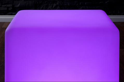 LED Würfel Hocker Sitzwürfel Design Lounge Beistelltisch Tisch Akku - Vorschau 4