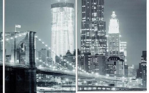 Wandbild 4 teilig New York Brooklyn Bridge USA Amerika Bild Leinwand - Vorschau 2