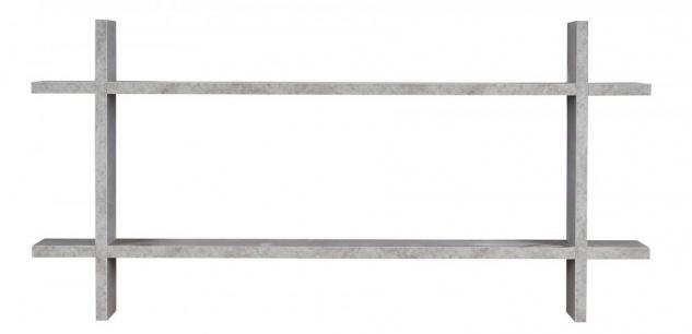 Regal BxH 98x48cm Holz Steckregal Beton-Optik Wandregal Bücherregal Vintage Deko