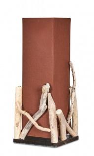 Lampe Tischlampe H50cm Braun Holz Holzlampe Tischleuchte Treibholz Natur Unikat