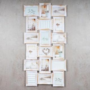 Bilderrahmen weiß gold gewischt 18 Fotos Barock antik Collage Galerie - Vorschau 2