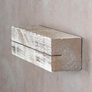levandeo Schlüsselbrett Holz Massiv 35x10cm Shabby Chic lackiert Schlüsselleiste - Vorschau 4