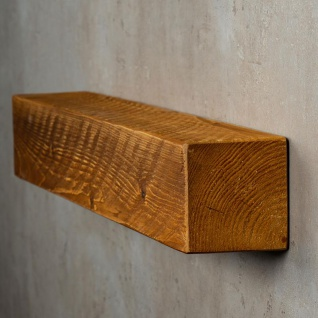 levandeo Wandregal Holz Massiv 60x10cm Teak Farbig Wandboard Regal Vintage Bord - Vorschau 3