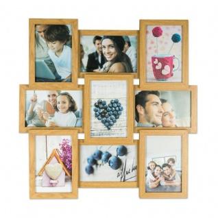 levandeo Bilderrahmen Collage 45x45cm 9 Fotos 10x15 Eiche MDF Holz Glasscheiben