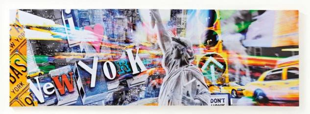 Wandbild Amerika USA New York Freiheitsstatue Leinwandbild 30x90cm - Vorschau