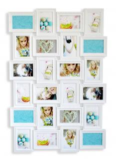 Bilderrahmen in weiß 24 Fotos Barock antik Fotorahmen Collage Galerie