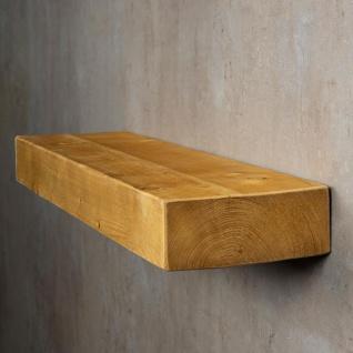 levandeo Wandregal Holz Massiv 80x20cm Eiche Farbig Wandboard Regal Vintage - Vorschau 3