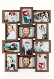 Fotogalerie Holz Nussbaum braun für 12 Fotos Bilderrahmen Collage