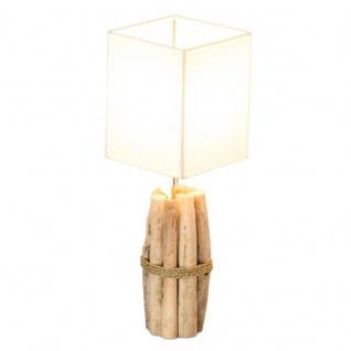 Tischlampe 17x50x17cm Treibholz Tischleuchte Unikat Holz Lampe Licht