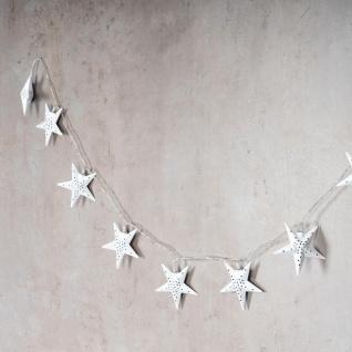 levandeo Lichterkette LED Weiß 10 Sterne Weihnachten Licht Beleuchtung Deko Xmas - Vorschau 2