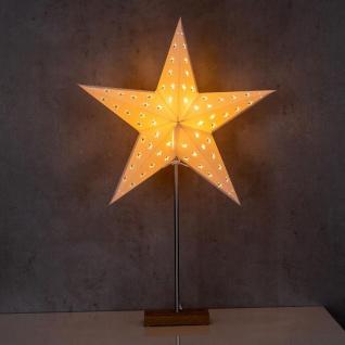 LED Stern B x H 43x67cm Weihnachtsstern Standfuß Deko Lampe Leuchte Tischlampe - Vorschau 4