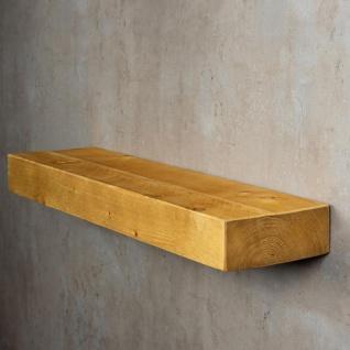 levandeo Wandregal Holz Massiv 80x20cm Eiche Farbig Wandboard Regal Vintage - Vorschau 4