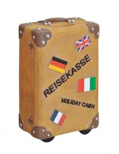 Spardose braun Sparkoffer Koffer Sparschwein Urlaubskasse Urlaub