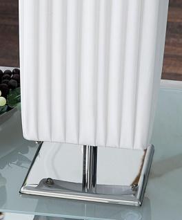 Nacht-Tischlampe Lampe in weiß Latex Leuchte Licht 15x60x15 Chrom - Vorschau 3