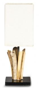 Tischlampe Höhe 41cm Treibholz Tischleuchte Holz Lampe Teakholz Deko Tischdeko
