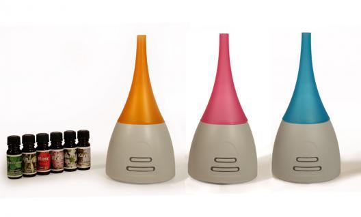 Diffuser Aroma Duftlampe Lampe LED Beleuchtung inkl. 6 Duftöle türkis - Vorschau 2