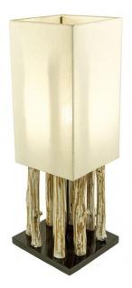 Lampe Tischlampe aus Holz Holzlampe Tischleuchte Treibholz 51cm hoch