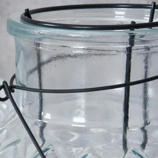 3er Set Windlicht H26cm Glas Laterne Weiß Gartenleuchte Kerzenhalter Garten Deko - Vorschau 4
