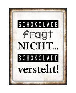 3er Set Wandbild Sprüche je 26 x 35 cm Blechschild Vintage Shabby Chic Wanddeko - Vorschau 2