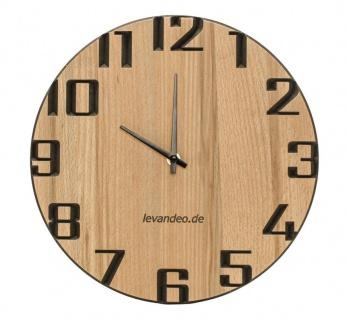 Wand-Uhr Holz 30cm Kernbuche Deutsche Herstellung modern Marke