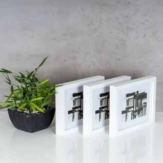 levandeo 3er Set Bilderrahmen 13x18cm Weiß Holz MDF Glasscheiben Rahmen - Vorschau 3